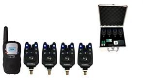 Набор электронных сигнализаторов поклевки с пейджером Hoxwell HL57 (4+1)
