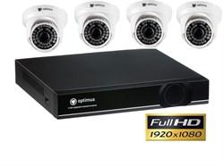 Комплект видеонаблюдения Full HD Optimus на 4 камеры 1080P - фото 5851