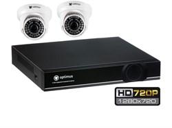 Комплект видеонаблюдения HD Optimus на 2/4 камеры 720P - фото 5879