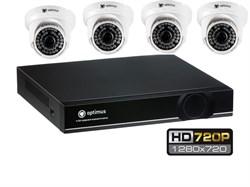 Комплект видеонаблюдения HD Optimus на 4 камеры 720P - фото 5884