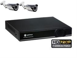 Комплект видеонаблюдения HD Optimus на 2/4 уличных камеры 720P - фото 6040