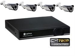 Комплект видеонаблюдения HD Optimus на 4 уличных камеры 720P - фото 6046
