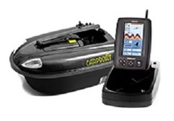 Кораблик Carpboat Mini Carbon 2,4GHz и эхолот Fish Finder TF640 комплект - фото 6136
