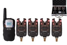 Набор электронных сигнализаторов поклевки с пейджером Hoxwell - HL51 (4+1)