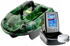 Кораблик Carpboat Camo 2,4GHz и эхолот Fish Finder tf640 Комплект