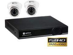 Комплект видеонаблюдения Full HD Optimus на 2/4 камеры 1080P