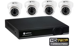 Комплект видеонаблюдения HD Optimus на 4 камеры 720P