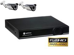 Комплект видеонаблюдения Full HD Optimus на 2/4 уличных камеры 1080P