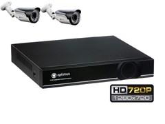 Комплект видеонаблюдения HD Optimus на 2/4 уличных камеры 720P